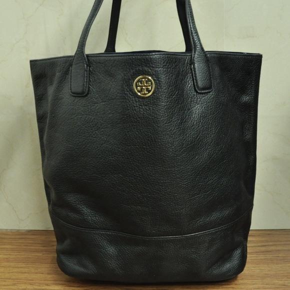 2a14f8b7cb9 Tory Burch Michelle Black Leather tote bag Shopper.  M 5a8dc20d45b30c8166edf2b2